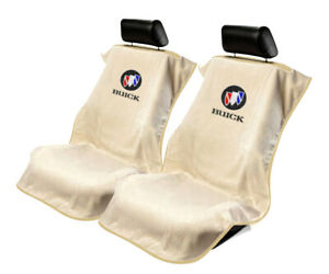 Seat Armour Universal Tan Towel Front Seat Covers for Buick -Pair