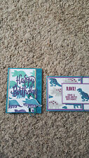 New listing 2 Handmade Stampin Up No Bones Dinosaur Cards