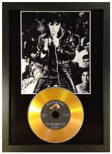 More details for elvis presley signed photograph gold cd disc collectable gift memorabilia mk22