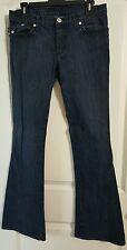 Women's Jeans Rock & Republic Dark Wash Flare Leg Designer Denim Size 30- EUC