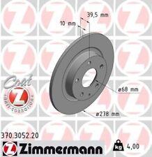 2x ZIMMERMANN Bremsscheibe Bremsscheiben Satz Bremsen COAT Z Hinten 370.3052.20