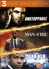 DVD:UNSTOPPABLE / MAN ON FIRE / THE SIEGE  - NEW Region 2 UK