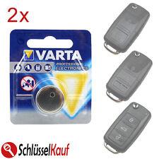 2x Varta Batteria Auto Chiave per VW Golf Jetta Passat Polo Tiguan SEAT SKODA