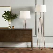 John Lewis Lockhart Floor Lamp, COPPER  WITH SHADE - New conditionand Boxed £195