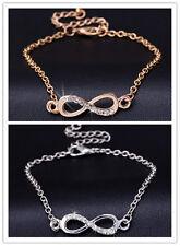 Sparkly Elegant Subtle Infinity Anklet Foot Chain Ankle Bracelet Infinity Charm
