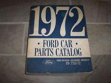 1972 Ford Mustang Parts Catalog Manual Convertible Fastback Cobra Mach 1 302