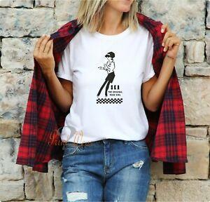 Ska Girl T shirt Original rude Girl Reggae Two Tone Unisex Fit Tee Size XS - 3XL