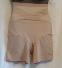 Shape by Cacique Illusion High Waist Thigh Shaper Lane Bryant BEIGE Slimming New
