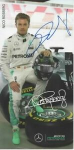 Nico Rosberg signed official card Mercedes AMG F1 Team 2016!