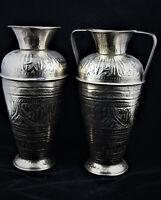 Art islamique Paire de  grands vase syriens en cuivre années 30