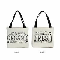 Reusable Grocery Bag Shopping Tote Extra Large Heavy Duty 12 oz Cotton Canvas