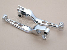 Chrome Skull Brake Clutch Levers For Harley Davidson Dyna XL Sportster 833 1200