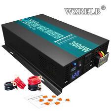 3000W Dc to Ac Pure Sine Wave Inverter 18V to 110V 120V Battery Solar Power Rv