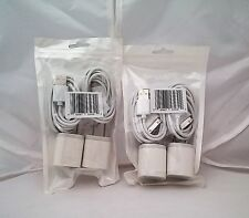 iPhone 4/4s iPad 1,2 Charger 4in1 Set Liger Electronics 2x 3Ft Data Sync (2 pack