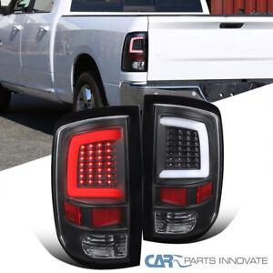 For 09-18 Dodge Ram 1500 10-18 2500 3500 Black LED DRL Strip Tail Lights Lamps