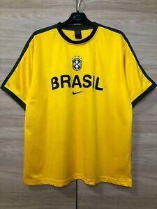 Brazil Brasil 2002 Vintage Training Football Shirt Soccer Jersey Rare Camiseta