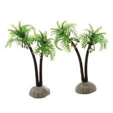 2 PZ Piante plastica albero di cacao per Acquario decorazione D1G7