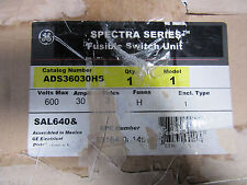 GE Spectra ADS36030HS Fusible Disconnect 3P 30A 600 Volts NEW!! in Box Free Ship