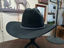 "Vintage Resistol 4 Xxxx Black Sz 7 3/8 4"" brim & 5"" crown crease.Low and wide!"