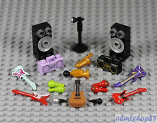 LEGO - 18x Musical Instruments Combo - Saxophone Guitar Microphone Rock Maracas
