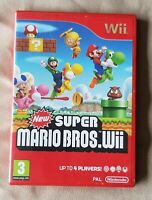 Nintendo Wii game - New Super Mario Bros - COMPLETE manual Quick Play VIP Card