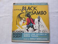 Old Book Musical Radio Script Little Black Sambo Poor Condition No Record 1944