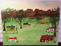 Original Landscape Painting Style of Grandma Moses