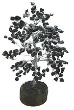 Tourmaline Stone Money Tree Spiritual Feng Shui Vastu Reiki Gemstone Table Decor