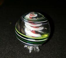 """Dare Hawkins Handmade Marble 1 3/4"""" MULTI COLOR  Razor Ribbon Core marble ECG"""