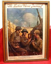 """Wwi """" His Thanksgiving """" November 1917 Framed Cover Of The Ladies Home Journal"""