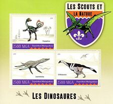 Madagascar 2016 neuf sans charnière scouts & nature dinosaures 3v m/s scout stamps