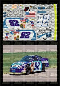 NASCAR 1/64 DECALS JJ03 - JIMMIE JOHNSON 2001 NBS #92 EXCEDRIN PM (911 TRIBUTE)
