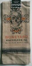 Kay Dee Designs Kitchen Tea Towel ~ Halloween Skull Boneyard Mausoleum Co.