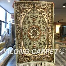 Yilong 2'x3' Small Handmade Silk Carpets Classic  Oriental Hand craft Rugs W269C