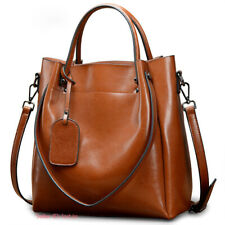 Women Genuine Cowhide Leather Handbag Shoulder Bag Tote Bags Crossbody Bag Large