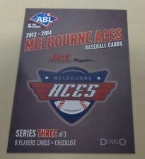 2013/14 MELBOURNE ACES COVER CARD Australian Baseball League (ABL)