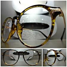 Men Women CLASSIC VINTAGE RETRO Style Clear Lens EYE GLASSES Tortoise Gold Frame