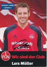 Lars Müller  FC Nürnberg  Fußball Autogrammkarte signiert 351909