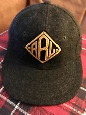 RRL winter wool/leather baseball cap, circ. 56 cm Small