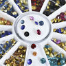 Mixed Colorful Crystal Glitter Nail Art Rhinestones Manicure Tips Decor Glitters