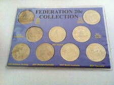 2001 UNC 9 COIN 20c FEDERATION COLLECTION COIN SET