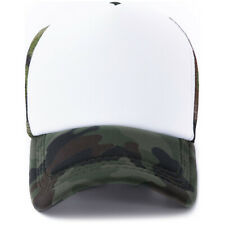 10pcs White Camouflage Polyester Mesh Baseball Cap Hat For Sublimation Blanks