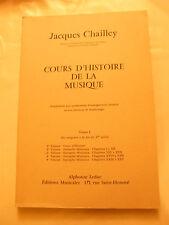 Partitura Curso d'historia de la música Jacques Chailley 3 . Volume