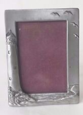 "1991 Seagull Pewter Lighthouse Wallet Photo Picture Frame PF1174 1 3/4"" x 2 3/4"""