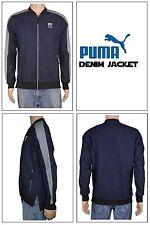 PUMA Classic + T7 Denim Jacket Coat (Peacoat Blue) Men's Medium M New with Tags