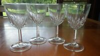 Clear glass Claret Wine glasses Diamant by CRISTAL D'ARQUES-DURAND 4 7 ounce