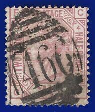 1876 SG141 2½d Rosy Mauve Plate 4 CF Good Used Liverpool 466 V.O. Duplex abfx