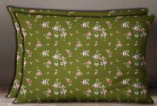 S4Sassy Army Floral Print Cotton Poplin Rectangle Pillow Sham 1 Pair