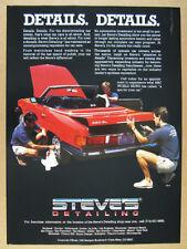 1987 Steve's Detailing mercedes-benz 380SL red car photo vintage print Ad