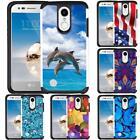 For LG Harmony 2 / Phoenix Plus / Premier Pro Case Hybrid Dual Layer Phone Cover